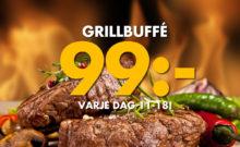 Grillbuffé 99 kr